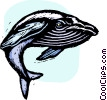 Vector Clip Art graphic  of a whale