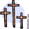 three Crosses Vector Clipart picture