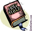 Vector Clipart graphic  of a The Bible