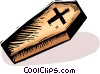 Vector Clip Art image  of a coffin
