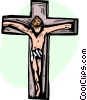 Vector Clipart graphic  of a Crucifix