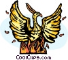 Vector Clip Art graphic  of a rising phoenix
