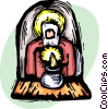 Vector Clip Art picture  of a Jesus Christ