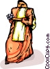 Vector Clip Art image  of a woman in traditional dress