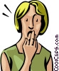 Vector Clipart image  of a shocked woman