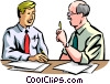 Vector Clipart picture  of a business partners exchanging