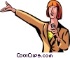 woman giving a presentation Vector Clipart illustration