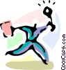 Vector Clip Art graphic  of a Competition