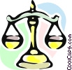 Scales of Justice Vector Clip Art graphic