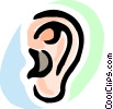 Vector Clip Art image  of a Ears