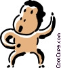 Vector Clipart picture  of a monkey