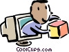 Vector Clipart graphic  of a online transaction concept