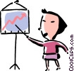 Vector Clipart picture  of a businesswoman giving a