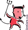 Vector Clip Art graphic  of a devil