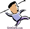 javelin thrower Vector Clipart picture