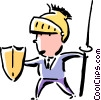 Vector Clipart graphic  of a businessman warrior