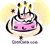 birthday cake Vector Clipart illustration