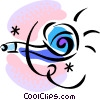 Vector Clip Art image  of a noise makers