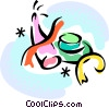 Vector Clipart graphic  of a party hats