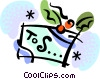 Vector Clipart graphic  of a Christmas present