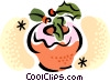 Vector Clip Art image  of a Christmas muffins