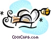 Vector Clipart image  of a Sleighs