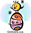 Easter Eggs Vector Clip Art graphic