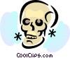 Vector Clipart image  of a Skulls