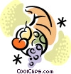 Vector Clip Art graphic  of a Cornucopia
