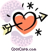 Vector Clipart image  of a Hearts