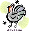 Vector Clip Art image  of a Turkeys