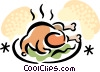 roast chicken Vector Clip Art graphic