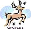 Reindeer Vector Clipart illustration