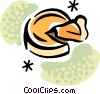Vector Clip Art graphic  of a Pies