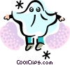 child dressed as a ghost for Halloween Vector Clipart image
