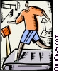 Vector Clip Art graphic  of a Treadmills