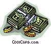 Vector Clip Art image  of a money