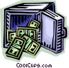 Vector Clip Art picture  of a safe full of money