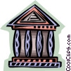Vector Clip Art image  of a bank symbol