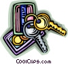 Vector Clipart picture  of a keys