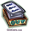 Vector Clip Art image  of a out box