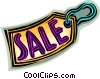 Vector Clipart illustration  of a sale tag