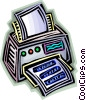 Vector Clip Art graphic  of a printer