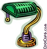 Vector Clipart picture  of a desk lamp
