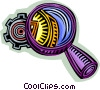 Vector Clipart picture  of a magnifying glass taking a