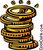 Vector Clipart picture  of a coins