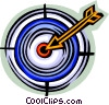 Vector Clipart picture  of a target and arrow