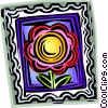 Vector Clipart picture  of a postage stamp