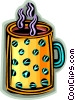 Vector Clip Art image  of a cup of coffee