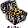 treasure chest Vector Clip Art graphic